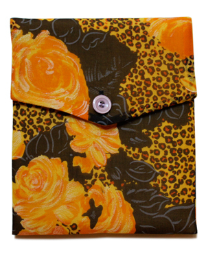 Nadda Cheetah Vintage Silk Organza iPad Cover