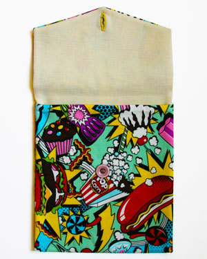 Pop Art is a Cotton Fashion iPad Cover