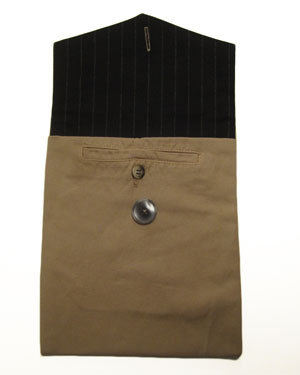 Bernie Madoff Loro Piana Tan Linen Pants iPad Cover